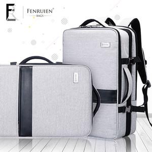FENRUIEN 2018 hommes d'affaires sac à dos multifonctions ordinateur de 17 pouces sac à dos de grande capacité voyage simple bagages à main