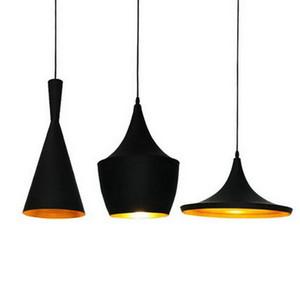 Lampada a sospensione moderna Nero Bianco Semplice alluminio a sospensione lampada della novità dei bambini di disegno Camera ombra Ristorante Decoration