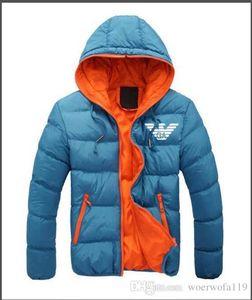 AMN01 Marca otoño invierno chaqueta de los hombres chaqueta casual traje de béisbol abrigo corto abrigo de algodón chaqueta M-5XL MON-09