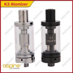 100% Original Aspire K3 BVC Glassomizer Tanque Com 1.8ohm Nautilus BVC Atomizador 2 ml Capacidade BVC