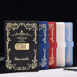 Nuova carta notebook per cancelleria 130 fogli Diario con codice di blocco password Vintage Notepad materiale scolastico per ufficio regalo