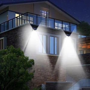 24 LED Solar Lights Waterproof Modern Motion Sensor Wall Light for Patio Yard Garden Path Home Driveway