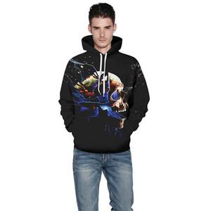 2020 커플 운동복 3D 디지털 인쇄 후드는 Holloween 야구 스포츠 코트 스웨터 무료 배송 땀