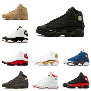 Nike air jordan 13 13s zapatos de baloncesto para hombre Gato negro criado Historia de vuelo de Chicago Hyper Royal Wheat 13 zapatillas de deporte hombres zapato deportivo tamaño 8-13