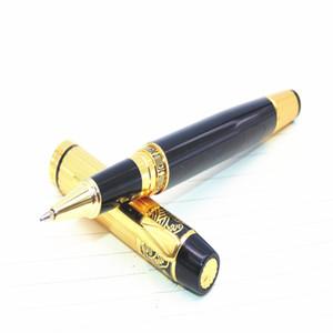 You 901 Black Gold Inoxidable Medium Nib Roller Pen Pen Oficina de negocios, asuntos diarios, los estudiantes aprenden bolígrafo profesional