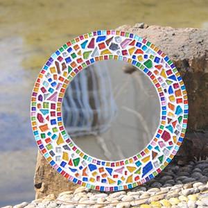 Adornos 200g Glitter Glass Mosaic Beads Mármoles planos Azulejos de mosaico para Flower Lantern Aquarium Garden Decoration