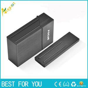 FOCUS 담배 케이스 상자 무 화염 이동식 성격 창조적 인 USB 라이터 토치 라이터 20PCS 담배 홀더 케이스와 라이터