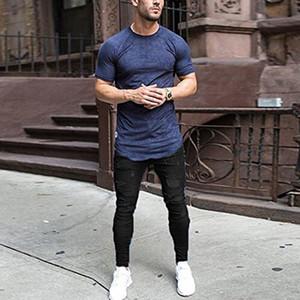 Bleu Noir Biker Hommes Jeans Fashion Slim Jeans Washed Distressed Ripped Denim Crayon Pantalons Jeans Homme Pantalons Pantalons