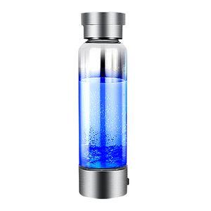 Top hidrógeno generador portátil ionizador para Pure H2 rico en hidrógeno que la botella de agua botella de bebida electrólisis Hidrógeno 350ML de