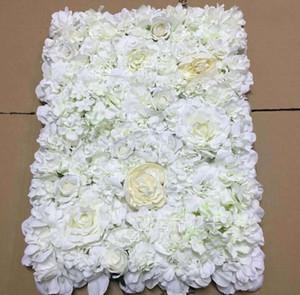Puntelli di scena di nozze creativi Fiori artificiali di sfondo floreale di criptazione della parete di tracery rosa di seta