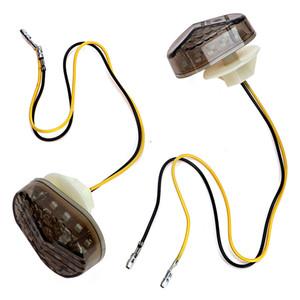 1 пара мотоцикл сигнала поворота света для Kawasaki универсальный Moto индикатор поворота лампы янтарный свет скутер ремонт аксессуары