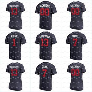 "1 ALBIES ""PUCHI"" 13 Acuna Jr. ""Sabanero Soy"" 2018 Players Weekend T-Shirt 7 Swanson ""Dans"" 49 ""EL CABALLO DE OLAYA"" Jerseys"