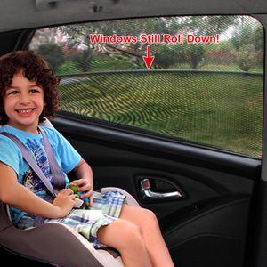 Sonnenschutz Sox Universal Fit Baby Hinten Große Autoseitenscheibe Sonnenschutz Travel für Auto, SUV (2er Pack)