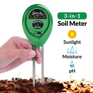 3 in 1 Misuratore di test per analizzatore digitale per tester di pH per l'umidità del suolo, umidità, pH, per piante da giardino Idroponica da giardino
