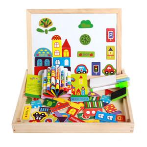 2018 Mambobaby 3D Tablero magnético del rompecabezas de los niños del bebé intelectual del juguete para los niños Puzzle de dibujos animados de madera niños juguetes