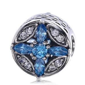 Patrones de encantos de escarcha Grano 925 Joyas de plata esterlina MEZCLA Granos de Navidad de piedra natural de cristal Pulseras de diy que hacen accesorios