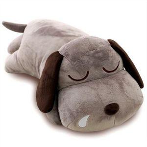 Dorimytrader Cute Soft Animal Lying Dog Plush Pillow Big Stuffed Cartoon Dogs Toy Doll for Baby Gift 30inch 75cm DY61993