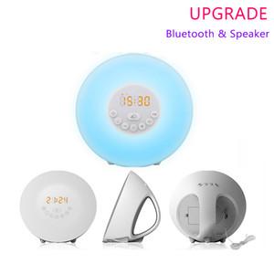 Despertador ligero de Sunrise Amanecer Despertador Bluetooth Sunrise Simulación Luz día Despertador con 7 colores, sonidos de la naturaleza, radio FM, función Snooze