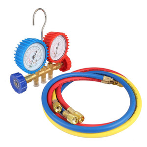 Refrigerant Manifold Gauges Tool Set Tables Colored-Hoses Double Table Valve Three Air Conditionin Car-Styling Refrigerant Test VB