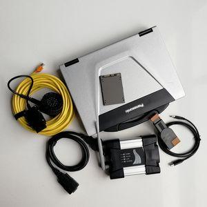 BMW + 새로운 소프트웨어 720기가바이트 SSD 자동차 자동 진단 도구 및 스캐너 V09.2020 CF52 I5 4G 중고 노트북 컴퓨터 + 와이파이 아이콤 다음
