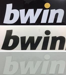 Logotipo de Bwin que imprime en la camiseta de fútbol Patrocinador del club del Real Madrid pegatinas impresas insignias publicitarias de plástico blanco impreso parches de estampado