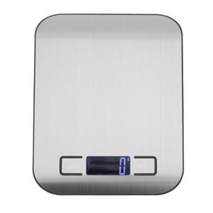 Küchenwaage LCD Digital Elektronische Waage Edelstahl Nahrungsmitteldiät Schmuck Backen Waage Waage kostenloser versand 5000g / 1g