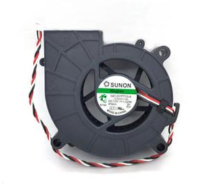 Nueva Original SUNON GB1207PTV3-A F.GN DC12V 1.02W 70 * 25 MM 3 Líneas Señal del Tacómetro para ventilador ventilador de Proyector