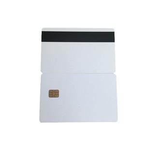 Белый SLE4442 контактный чип ПВХ смарт-карты с Hico магнитной полосой