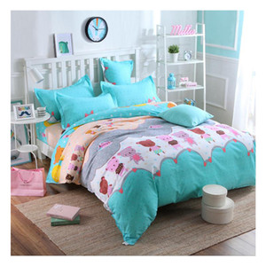 Simple DUVET COVER SET  QUILT bed skirt SETS DUVETS COVERS SINGLE DOUBLE SUPER Queen King Size Bed Set Pillowcase