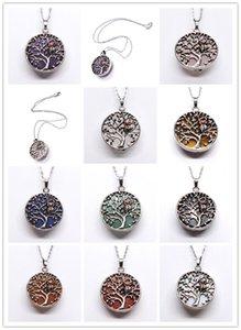 Großhandel 10 Stück exklusives Design versilbert Baum des Lebens Eule Runde Anhänger Gliederkette Halskette Modeschmuck