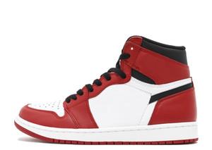 TOP Factory Version 1 Chicago Weiß Rot Basketball-Schuhe Herren Turnschuhe New 2018 Turnschuhe mit Box von Michael Sport