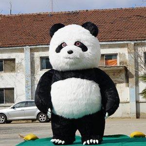 2.5m de alto desfile decoración panda chino gigante Trajes inflables