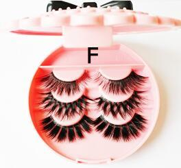 Soft Logo Extension F-private And Style Mink Hair Ross Mink Hair Sexy Package-box Natural 3d Multi-layer Longeyelashes-x Lashes Eyelash Sbrj