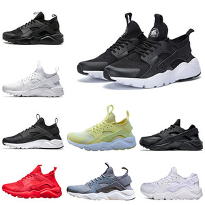 2019 Huarache ultra runner PK 4 Running Shoes 4s tripa Negro blanco oro amarillo gris Rojo Huaraches moda PK entrenadores envío de gota