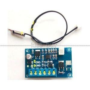 Freeshipping 12V 24V DC 자동 PWM PC CPU 팬 온도 제어 속도 컨트롤러 + 센서