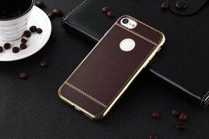 50 pcs Litchi Motif Cas de téléphone pour iPhone X 8 8 Plus Soft TPU Business Style Téléphone Protecteur Shell pour iPhone 6 6s