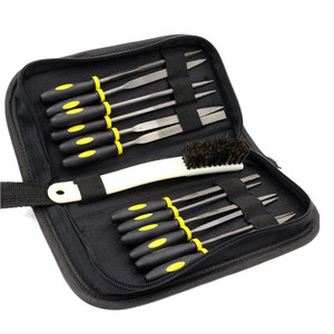 12pc Mini Assorted Wood Rasp Set Steel Needle Files Trimming File with Brush, Parts Box and Storage Box
