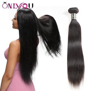 Образец порядка 1 пучок за лот норки бразильский Виргинские волосы расслоение сделок Реми человеческих волос глубокой волны прямые тела волны волос ткет