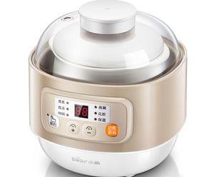 Urso HOUSEHOLD min elétrica fogão SLOW DDZ-A08D1 liner Cerâmica 0.8L máquina de café da manhã ensopado de mingau de sopa DIY EGG casa de ...