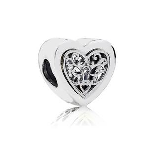 Hollow Heart Retro Alloy Charm Bead Fashion Women Jewelry Stunning Design European Style For DIY Bracelet