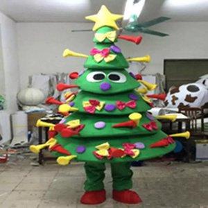 2018 hochwertiges EVA-Material Viele Geschenke Weihnachtsbaum Maskottchen Kostüme Crayon Cartoon Apparel Birthday