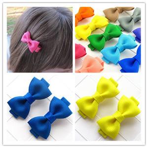 Baby Girl Ribbon Mini Pinza para el cabello Pin Accesorios para niños Lazo para el cabello Barrette Horquilla Hairgrip Headwear Tocado 10 pares Regalo de Navidad