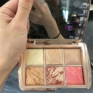 Marka Yeni Makyaj Kum Saati 6 renk yüz allık paleti vurgulayıcı kontur allık kozmetik paleti Ücretsiz Kargo