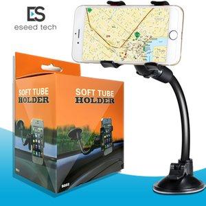 iPhone 6 için / Çift Cep telefonları -Retail Pack Araç Montaj, Kolay-Kullanım Evrensel Uzun Kol / boyun 360 ° Rotasyon Cam Telefon Tutucu Klip 6S