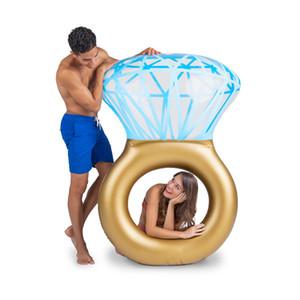Stuoie gonfiabili di protezione dell'ambiente del cerchio di nuoto di fila di galleggiamento della piscina di estate di fila del nuovo anello del diamante del modello per l'adulto 45zj X