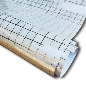5M Aluminum Foil Self Adhesive Wall Papers Mosaic Wallpaper Bathroom Kitchen Backsplash Waterproof Tile Wall Stickers Home Decor