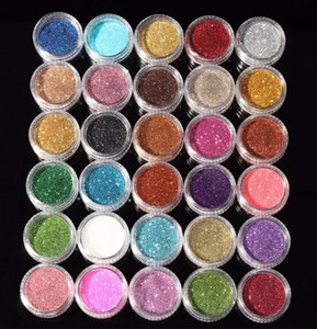 30pcs Mixed Colors Eyeshadow Pigment Glitter Mineral Spangle Eyeshadow Makeup Cosmetic Set Long-lasting Random Color N05