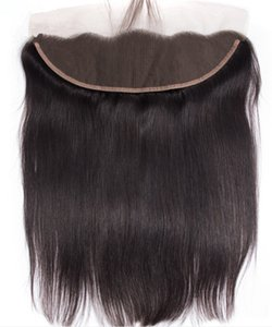 13x6 Ear to Ear Lace Frontal Closures 13x4 9A High Quality Natural Color Virgin Brazilian Hair Straight Free Part Frontal Closure 13x2