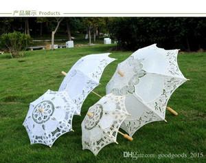 Кружево ручное открытие свадебного зонтика свадебные зонтики зонтика аксессуары для свадебного свадебного душа зонтик C637