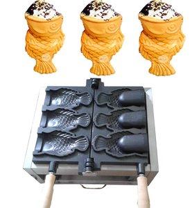 Livraison gratuite 3 pcs Gaufrier Poisson Crème Glacée Taiyaki Machine Poisson cône Maker